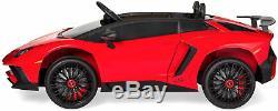 Ride On Lamborghini Aventador 12V Kids Car Electric Remote Control Rc Radio Red