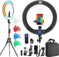 Ring Light with Wireless Remote Controller, Pixel 19 inch Pro Vlogging Light LCD