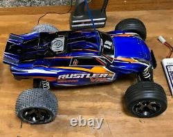 Traxxas Rustler VXL Radio Control RC Car RTR w Remote, Batteries, and Charger