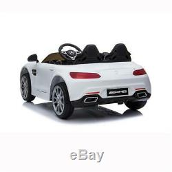 US White BENZ GT Car LZ-920 Dual Drive 35W2 Battery 12V Remote Control WithRadio
