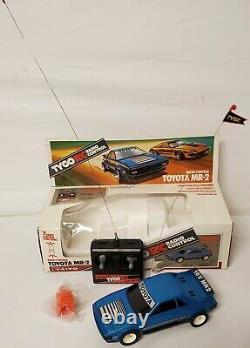 Vintage 1987 Tyco Taiyo Blue Toyota MR2 Radio Remote Control Car in Original Box