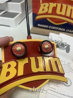 Vintage Brum RC Car Yellow Roadster With Remote Radio Shack In Original Box