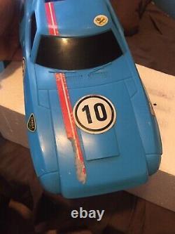 Vintage Latrax Alpha RCX Radio Controlled RC Car Blue With Remote