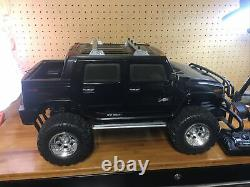 Vintage New Bright Black Hummer H2 Remote Radio Control Car 16 Scale RC Nice
