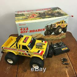 Vintage Radio Shack 4x4 Off Road RC Truck Car Remote Control Race 80s Toy