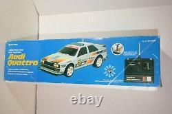 Vintage Radio Shack Audi Quattro RC Car Remote Control SCALE 1/10 60-4058