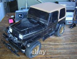 Vtg. 1994 Tamiya 1/10 Jeep Wrangler 4wd Off Road Car Remote Radio Control Rc 4x4