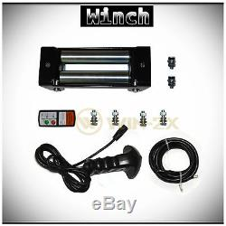 WIN-2X 12000lb DC 12V Electric Recovery Winch Kit withWireless Remote & Steel Rope