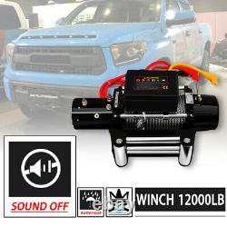 WIN-2X 12000lbs DC 12V Electric MUTE Auto Brake IP67 Waterproof Winch Kit
