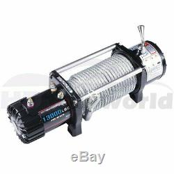 With Wireless Remote Electric Winch 13000lb Recovery ATV Car Truck Trailer