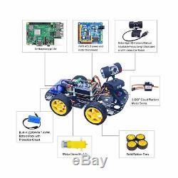 XiaoR GEEK DS Wireless WiFi Robot Car Kit for Raspberry pi 3B+, Remote Contro