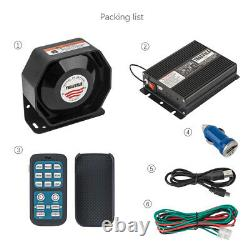YHAAVALE 920 Car Siren, 100W, DC12V, Wireless Remote Control Emergency PA System