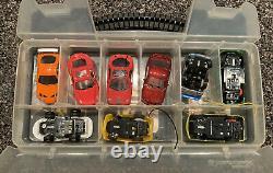 Zip Zaps Micro RC Car Lot (6) Vehicles, Accessory Case + 2 Remotes, Radio Shack